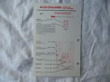 Allis Chalmers H4 HD4 crawler tractor lubrication guide chart