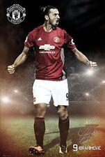 Zlatan Ibrahimovic - Manchester United Soccer Poster Season 2016 - 2017 New