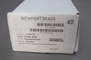 "Newport Brass Alveston Polished Nickel 24"" Towel Bar 13-02/15"