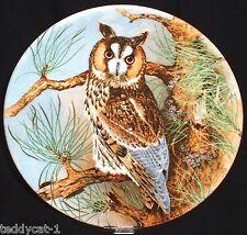 THE WISE OWL / Die Weise Eule ~ 2. Coalport Bradex Sammelteller = LONG-EARD OWL