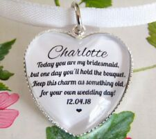 Bridesmaid Something Old Quote Bouquet Charm Personalised Wedding Gift
