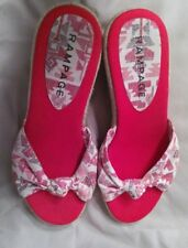 Women's shoes by Rampage  Sz 9M  Red/white Geometric Wedge CUTE!!