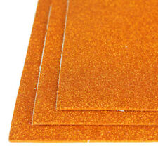 Self-Adhesive Glitter EVA Foam Sheet, 8-Inch x 12-Inch, 3-Piece, Orange