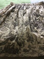 Toile de Juoy Curtains Black And Cream Cotton Sateen French Pastoral Scene.