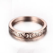 Solid 10K Rose Gold Classicl Engagement Wedding Ring band size 6.5