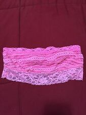 Forever 21 XXi Bandeau Small Extra Small Pink Lace NWOT