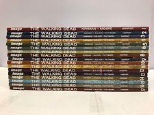 The Walking Dead Volumes #1 thru 17 TPB Set Image Moore Adlard Autographed