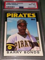 1986 Topps Traded Barry Bonds RC #11T PSA 8 AWESOME CARD! FUTURE HOF?