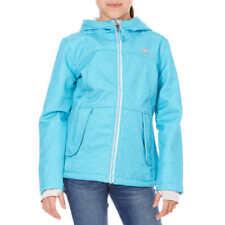 Snozu Girls Softshell Fleece Lined Hooded Jacket, FROZEN BLUE DENIM Size S-7/8