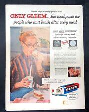 Life Magazine Ad GLEEM Toothpaste 1956 AD Cover June 4, 1956
