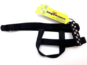"""Impawsters Dog Pet Standard Style Harness Pink Flower Small Petite Girth 14""""-17"""""""