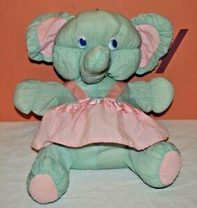 Vintage 1980s MTY International Puffalump Elephant Soft Toy. Rare