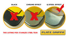 Plate Grippa™ Number Plate Carrier / Holder / Surround - Stainless Steel Trim