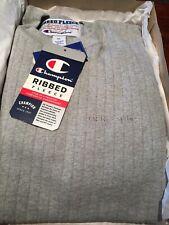 Vintage Grey Champion Ribbed Fleece Sweatshirt w/ Tags Xl