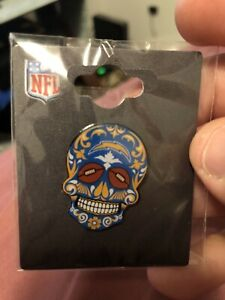 """Los Angeles Chargers """"SUGAR SSKULL"""" Pin NFL"""
