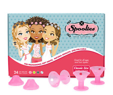 Spoolies Hair Curlers Official Store, 24 Rollers, Heat-Free - Playful Pink