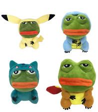 25cm Pepemon Pepe Pikachu Dragonite Squirtle Bulbasaur Plush Toy