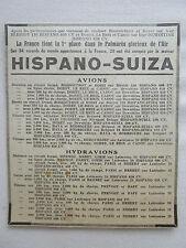 5/1931 PUB HISPANO-SUIZA MOTEUR AVIATION RECORDS DU MONDE MERMOZ ROSSI DORET AD
