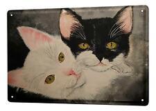 Tin Sign Krakowski two cats in the portrait 20x30 cm metal shield Wall Art Deco