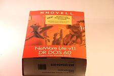 Vintage Novell Netware lite v1.1 DR DOS 6.0 persönliche NETZWERK SOFTWARE Sieg