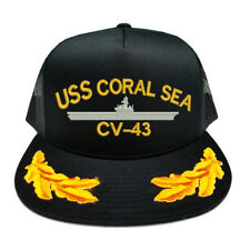 CUSTOM MAKE USS CORAL SEA CV-43 SCRAMBLED EGGS YUPOONG CAP HAT