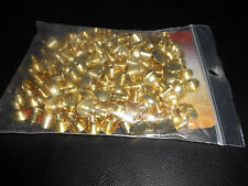 100 Pack of 1/4 inch Solid Brass Finish Chicago Screw Posts.