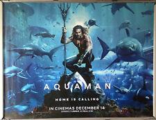 Cinema Poster: AQUAMAN 2018 (Advance Quad) Jason Momoa Amber Heard Willem Dafoe
