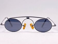Rare Vintage Idc 794 Small Oval Black Matte Sunglasses 1990 Made In France