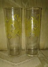 2 Bacardi Limón Glasses 7 Inches Yellow