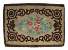 """Antique hand Hooked Rug, circa 1930, 29"""" X 45"""""""