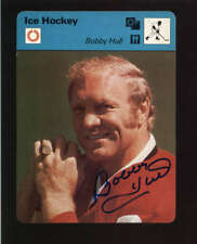 1977 EDITIONS RENCONTRE BOBBY HULL AUTHENTIC ON CARD AUTOGRAPH SIGNATURE AX5260