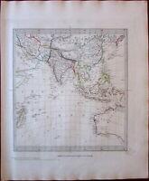 Asia India China Oceania Australia New Holland c.1835 SDUK old Walker map