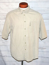 Columbia Sportswear Men's Beige Short Sleeve Button Down Casual Shirt Size Large