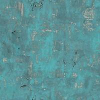 Vliestapete Beton Optik petrol türkis verwittert patina 3501 Industrie Steinwand