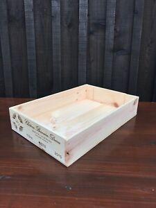 Genuine 6 Bottle Wooden Wine Box Shallow - Storage/Display/Hamper - *FREE P&P*