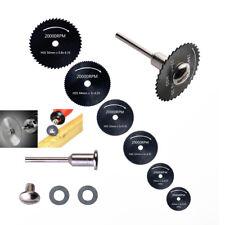 1 Mandrel + Black 6pcs HSS Saw Blades For Steel Rotary Tool Cutting Discs Wheel