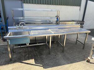 Stainless Steel Commercial Sink (3m) Read Description