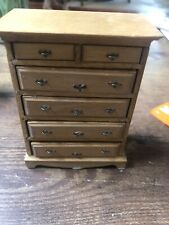 1:12 VINTAGE DOLLHOUSE MINIATURE FURNITURE WOODEN HANDCRAFTED CHEST DRESSER