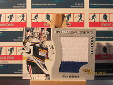 2005-06 ITG Heroes and Prospects Jerseys #GUJ103 Mike Brodeur 2 Color White Blue