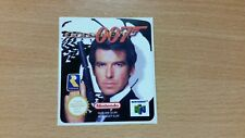 Golden Eye 007 N64 Cartridge Replacement Game Label Sticker Precut