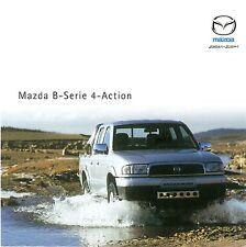 Prospekt / Brochure Mazda B-Serie 4-Action 02/2002