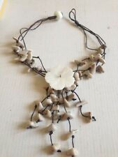 Heavenly Hibiscus Flower Pearl Necklace Summer/Beach Necklace