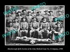 OLD HISTORIC PHOTO OF BOER WAR AUSTRALIAN SOLDIERS, ARMY MEDICAL CORPS c1900