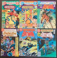 Batman Detective Comics #490,491 Batgirl 496,500,503,509 DC Comics 1980 lot