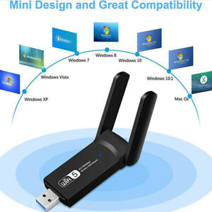 1200Mbps WIFI USB adapter 2.4/ 5GHz Wireless USB 3.0 PC Network Card Dongle