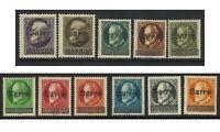 Saar 1920 'Sarre' Overprints On Bavaria Set of 11 5pf-2m Stamps Mi.18/28 MH 3-18