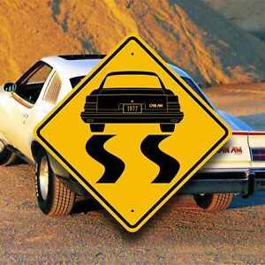 1977 Pontiac Can Am - Burnout Sign - Rare Muscle Car Gift - Speed Garage Decor