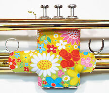 Neoprene Trumpet Valve Guard - In School Colors and fun patterns