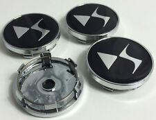 ☆ 4 LOGO EMBLÈME CITROEN DS3 DS4 DS5 60  mm caches moyeu jante, centre de roue ☆