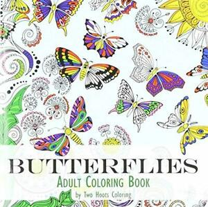 Adult Coloring Book 30 Butterflies 64 pages Paperback English for Art Gift 1 Pc
